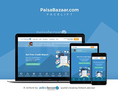 PaisaBazaar Homepage - Facelift