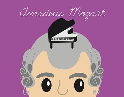 El pequeño Amadeus Libro de letro escritura