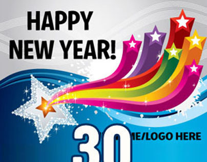 30 beautiful new year greeting card designs for you on behance m4hsunfo