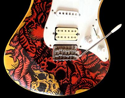 """""""Dead By Dawn"""" custom guitar"""
