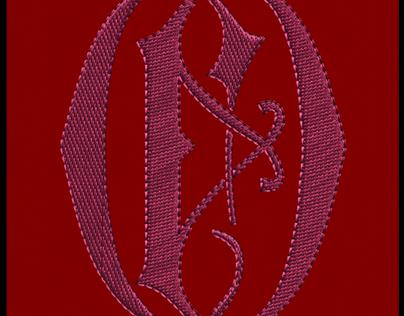 Foulard Brodé   Monogramme