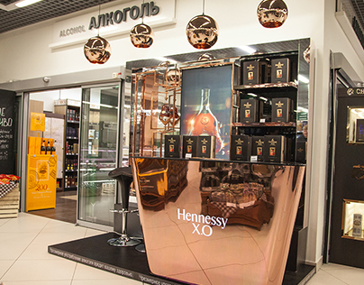 Hennessy Shop in Shop and POSm