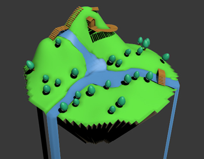 3D Floating Island