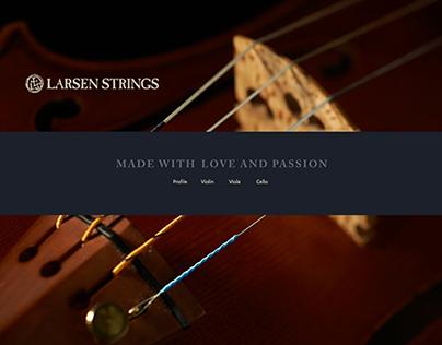 Larsen Strings – website