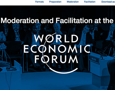 Moderation and Facilitation at the WEF