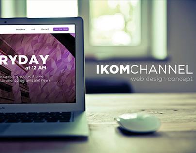 Ikom Channel Telkom University Web Design Concept