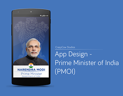 App Design - Prime Minister of India (PMOI)