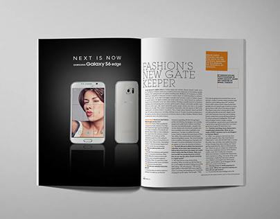 Samsung interactive magazine ad.