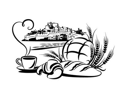 "Illustration for ""La Marsela"" bakery & coffee shop"