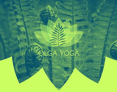 olga yoga logo and business card