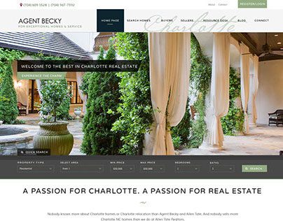 AgentBecky.com Redesign 2014