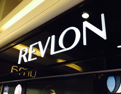 Revlon organizer product display wall