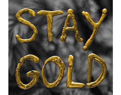 Gold wax - Experimental Handmade Typography