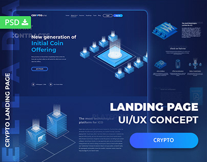 CryptoOne - Cryptocurrency Landing Page Theme
