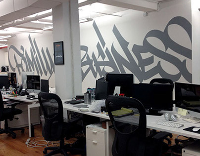 Team Epiphany Office Mural - New York 2014
