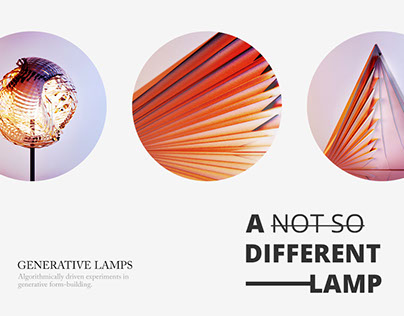 A different lamp - generative designs created with code