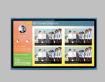 WP App UI Design for Academy