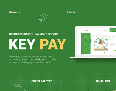 Created a website design for the payment system