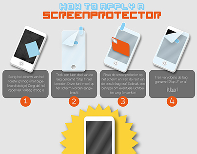 Infographic - How to apply a screenprotector