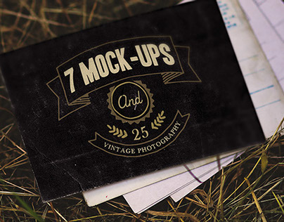 7 vintage mock-ups + 25 photos