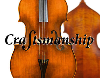 Advertising for string instrument manufacturer