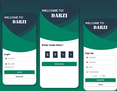 Tailor Mobile App Design Concept