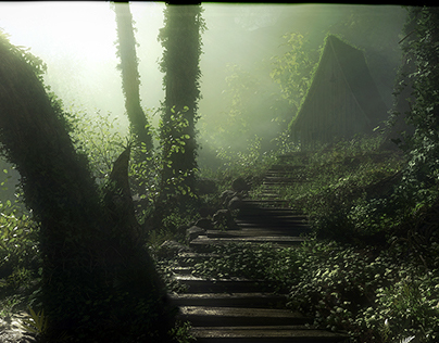 Wooden Forest Pathway