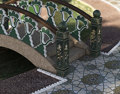 Oriental style arbour