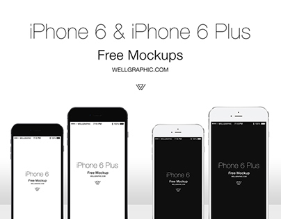 Apple iPhone 6 and iPhone 6 Plus Mockup PSD