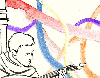 """Ilustração """"Queima das Fitas Coimbra"""""""