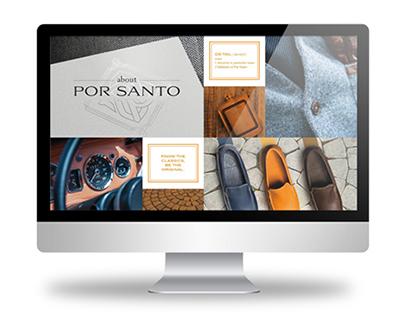 POR SANTO | Website Visuals Redesign