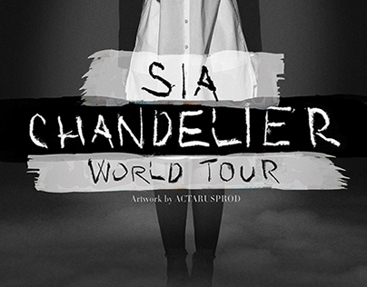 Sia - Chandelier Tour Promo Poster