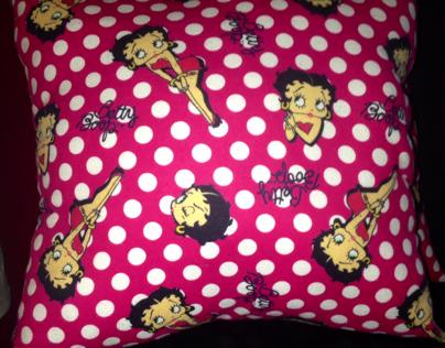 Pillow set handmade betty boop