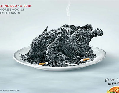 Anti tabacco social advertising