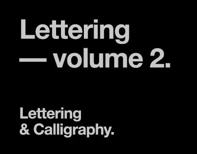 Lettering — volume 2.