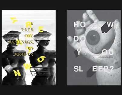 Typographic Music Posters