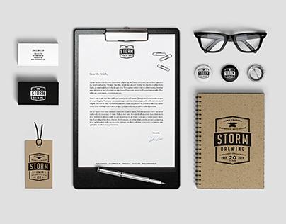 Storm Brewing Rebranding Concept