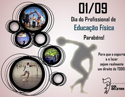 Imagem para o Dia do profissional de Educação Fisica