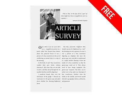 Survey Article - free Google Docs Template