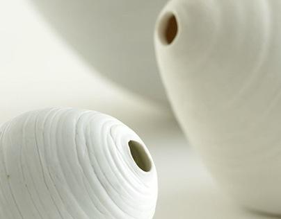 Experimental porcelain lighting devices
