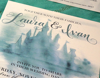 Invitation Suite for Laura & Ivan