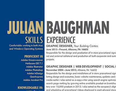 Resume Design 2014