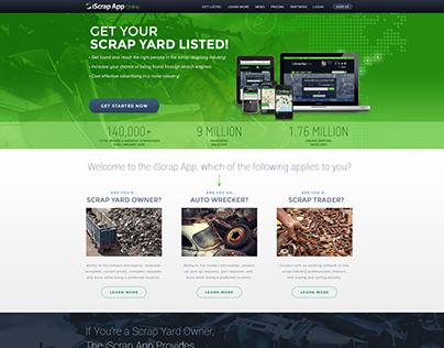 iScrapApp Retail Site Design