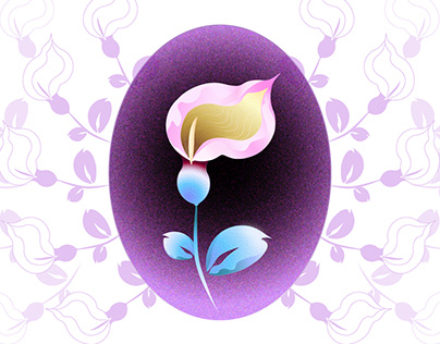 Calla flower / My first vector graphics