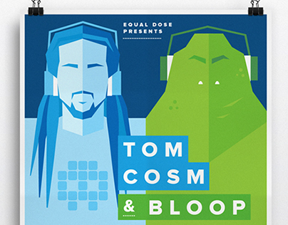 Equal Dose Presents Tom Cosm & Bloop - Event Flyer