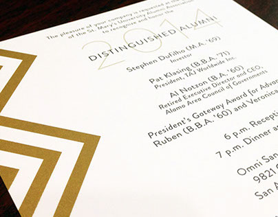 Distinguished Alumni Dinner Invite