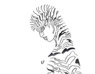 Mujer cebra