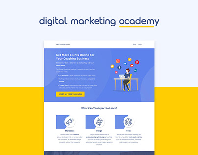Digital Marketing Academy - Branding & Website