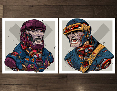 MECHASOUL CYCLOPS + SENTINEL FINE ART PRINTS