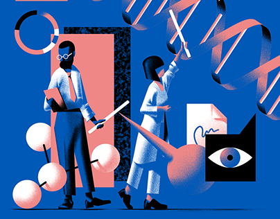 5 illustrations for Fast Company magazine